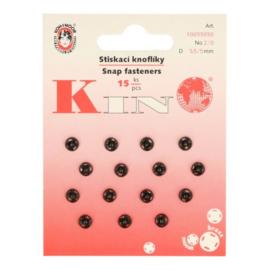 Aannaaidrukknopen 5 mm zwart - Koh I Noor