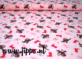 50 x 110 cm Cowgirl Toss Multi - Riley Blake Designs