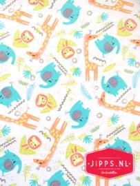 Flanel wilde dieren - 3 Wishes Fabric - 100% katoen