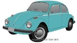 Volkswagen kever strijkapplicatie (13027)