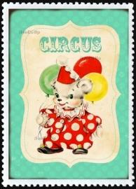 Strijkapplicatie Circusbeertje vintage (13035)