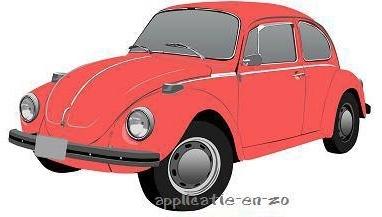 Volkswagen kever strijkapplicatie (13026)