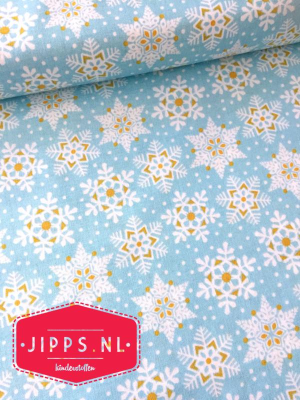 IJskristallen - Land of Snow Blue  - Blend Fabrics - 100% katoen