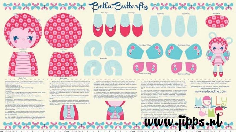 Bella Butterfly - stofpanel - Riley Blake Design - 100% katoen
