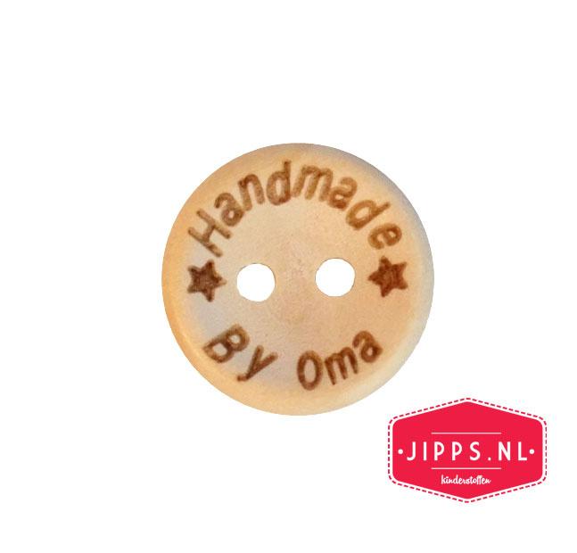 Handmade by oma - houten knoop 15 mm