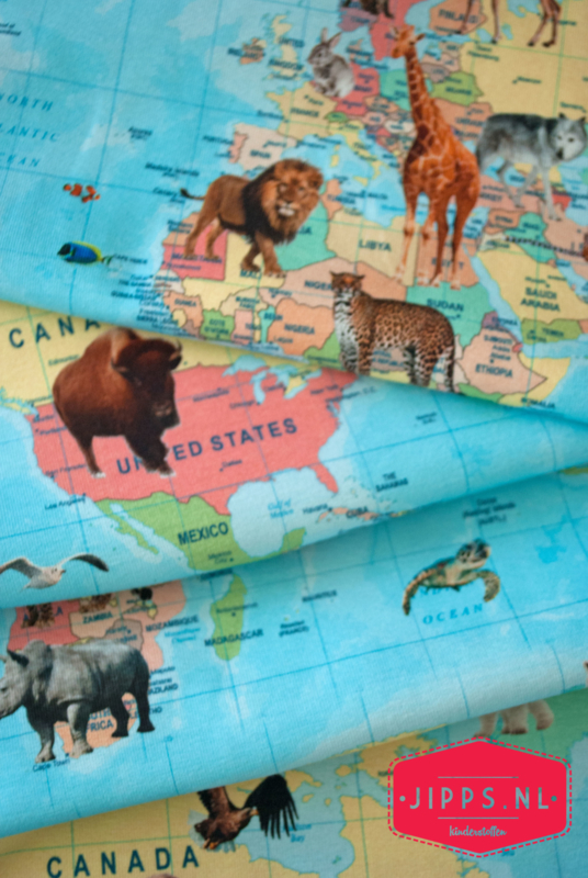 Wildlife Map - Qjutie Kids - tricot