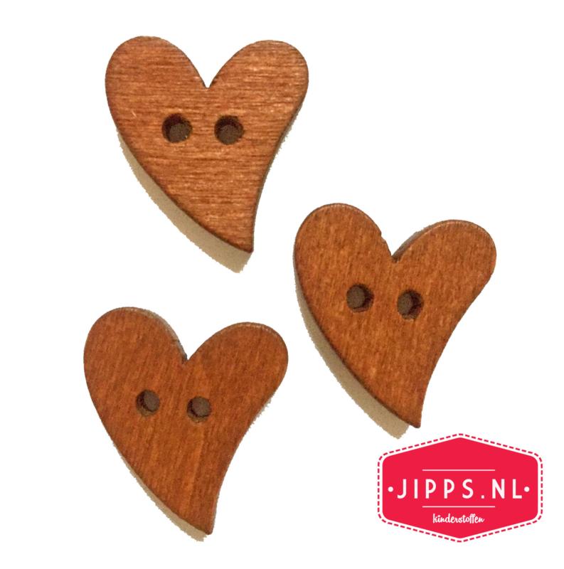 Hart - houten knoop 20 mm
