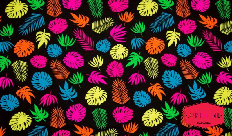 Neon Big Leaves - Qjutie Kids - Tricot