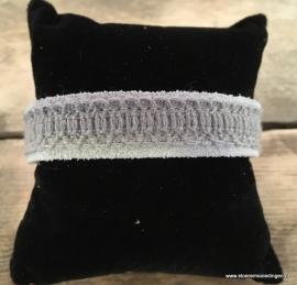 Ibiza style armband licht grijs