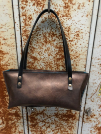 Tas donkerbruin cow hide