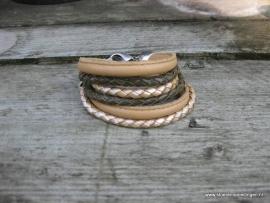 Wikkelarmband topaz mosterd