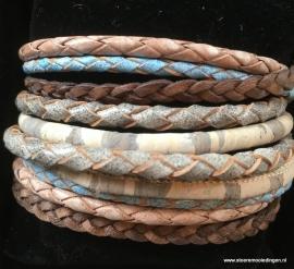 Wikkelarmband  grijs blauw