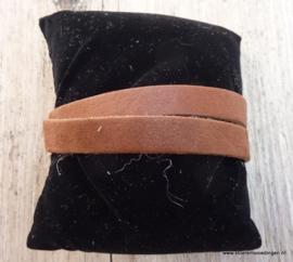 Gesp armband bruin
