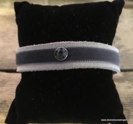 Ibiza style armband grijs