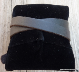 Gesp armband donkerbruin