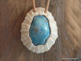 Schelp keramiek blauw