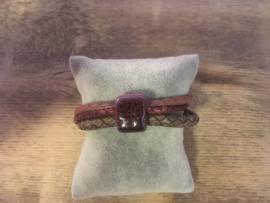 Armband  aubergine grijs