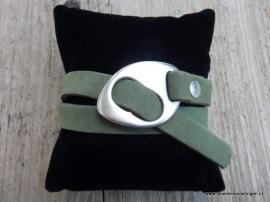 Gesp armband groen