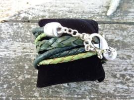 Wikkelarmband groen
