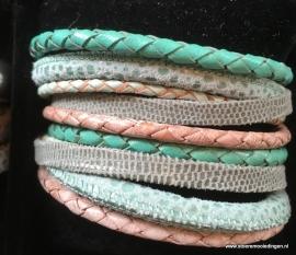 Wikkelarmband  mint zeegroen