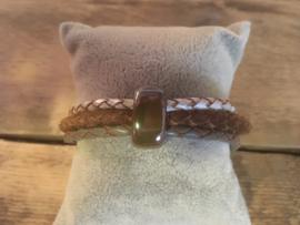 Armband  bruin grijs-groen ecru