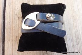 Gesp armband blauw