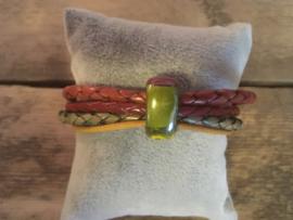 Armband  rood groen geel