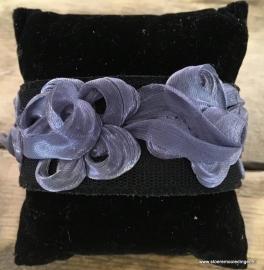 Ibiza style armband blauw zwart