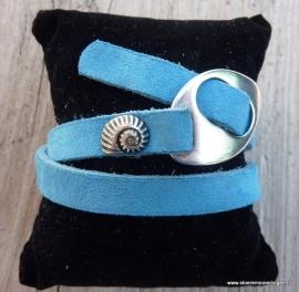 Gesp armband zeeblauw
