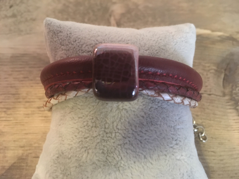 Armband  bordeaux aubergine