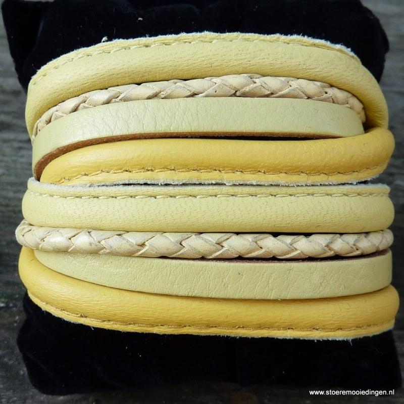 Wikkelarmband geel