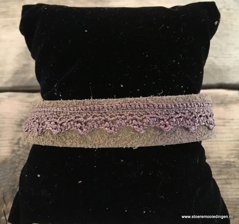 Ibiza style armband beige taupe