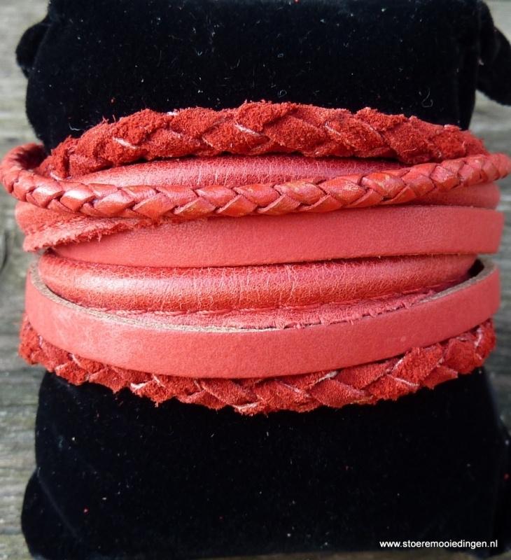 Wikkelarmband rood