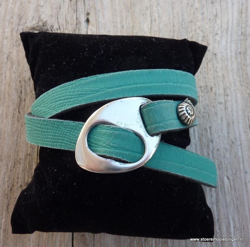 Gesp armband emerald groen