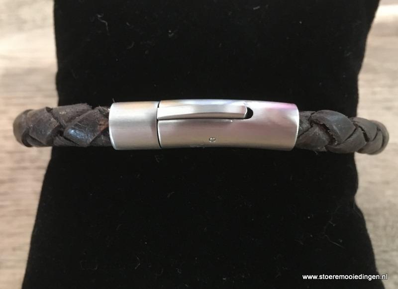 Armband rondgevlochten zwart