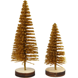 CHRISTMAS TREES 5 PIECES - GOLD