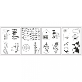 """Transfer Paper with Templates """"Happy"""""""