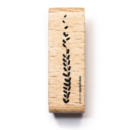 Wooden Stamp - Grass Large