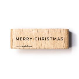 Houten Stempel - Merry Christmas 2