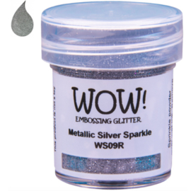 Embossing Powder Glitter - Metallic Silver Sparkle