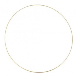 Metal Wire Ring Gold - 60 cm