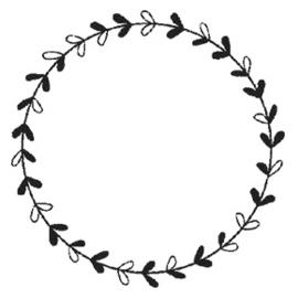 Wooden Stamp - Wreath 1