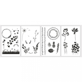"Transfer Paper with Templates ""Botanical"""