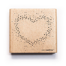 Wooden Stamp - Confetti Heart
