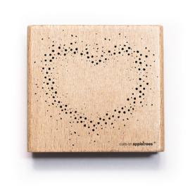 Houten Stempel - Confetti Hart