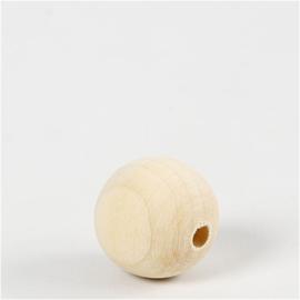 Houten Kralen - 25 mm, 20 stuks