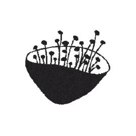 Houten Stempel - Bloemknop 1