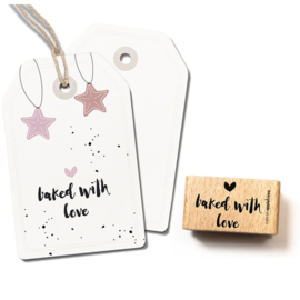 Wooden Stamp - Baked with love