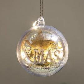 5 Kerstballen met 2 Helften - 6 cm
