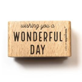 Houten Stempel - Wonderful day